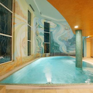 Wellnes, bazén, sauna, vířivka hotelu Promenáda