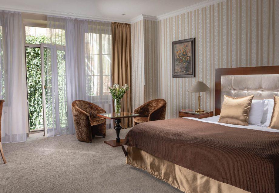 Luxusní pokoj v hotelu Promenáda